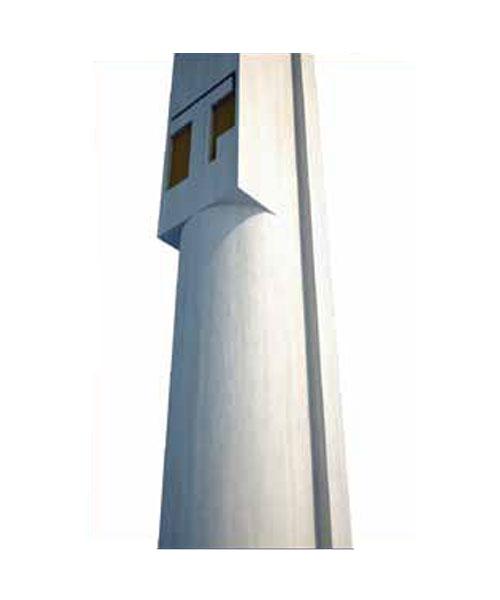 Pilares semicirculares