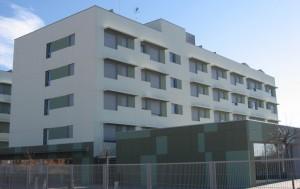 Edificio construido con prefabricados