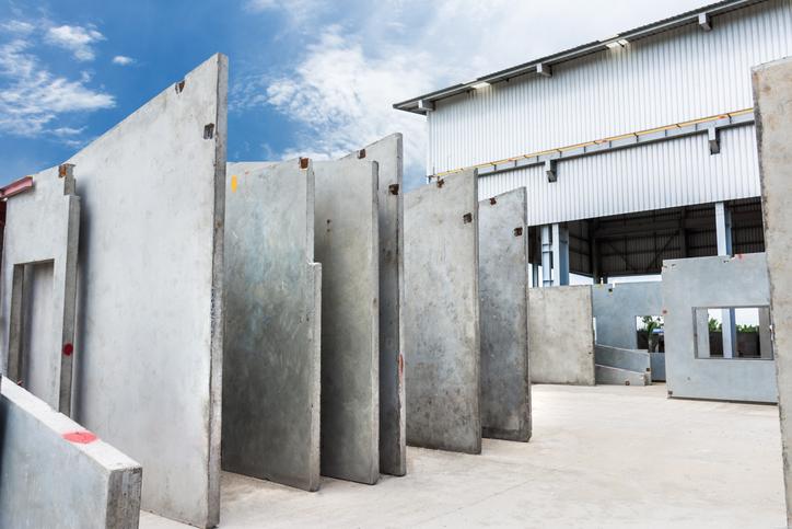 Paneles de hormigón para una construcción